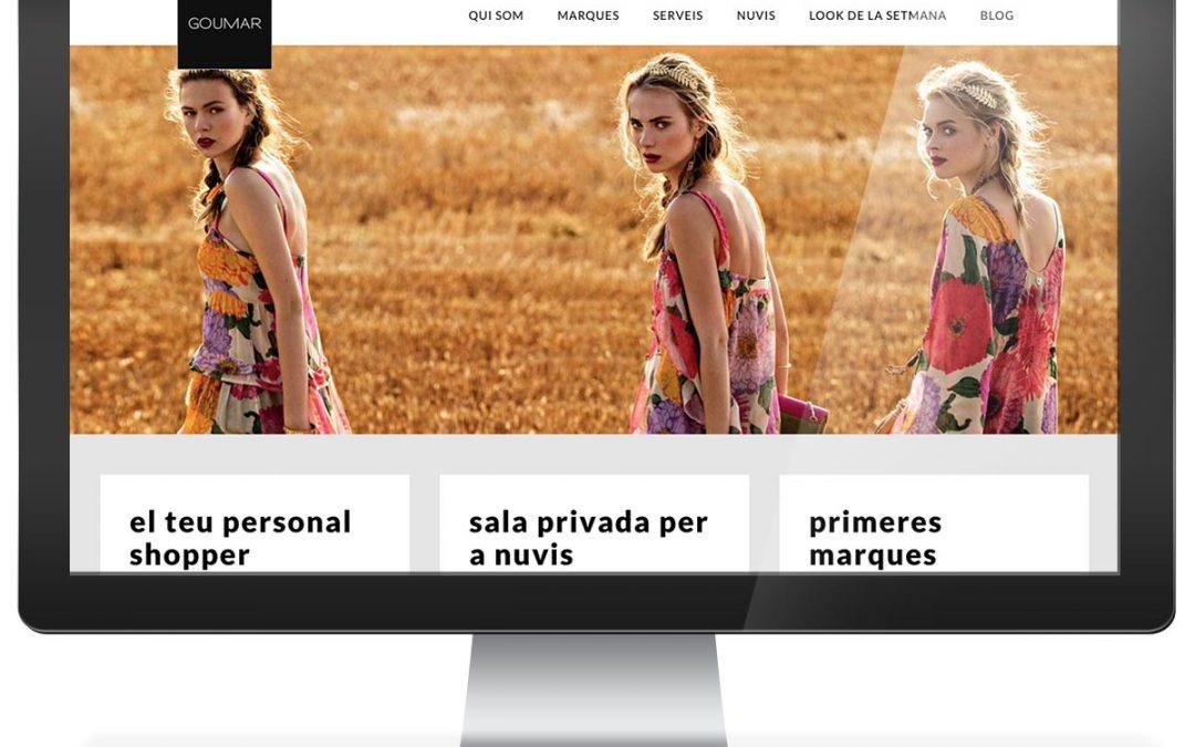 Disseny web botiga moda Goumar