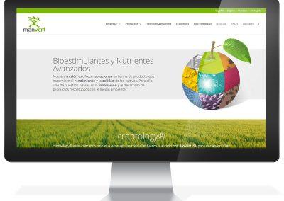 Disseny web empresa fertilitzants Manvert