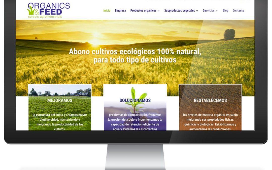 Disseny web corporatiu Organics and Feed