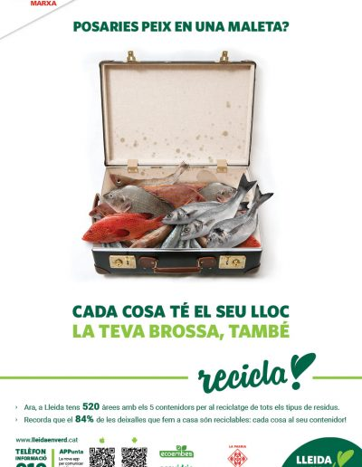 Campanya de reciclatge 2017 Ajuntament de Lleida