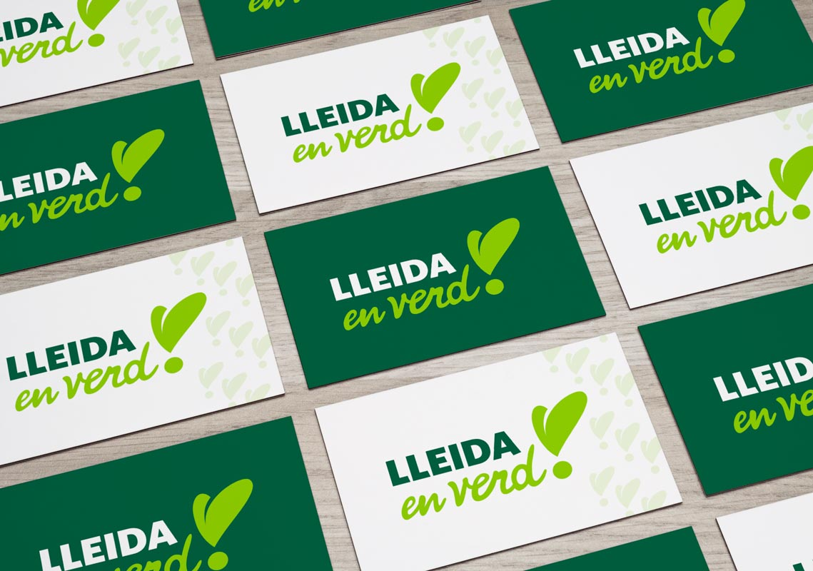 "Identitat corporativa campanya de medi ambient ""Lleida en verd"""