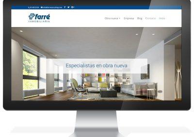 Disseny web immobiliària Farré