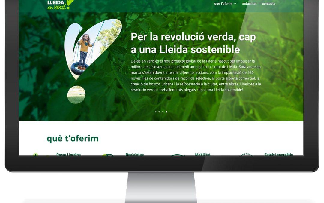 """Disseny web Ajuntament de Lleida """"Lleida en Verd"""""""
