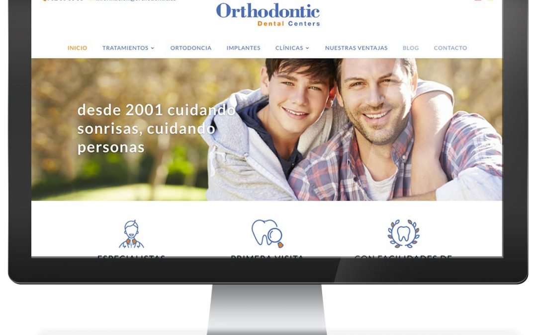 Disseny web clínica dental Orthodontic