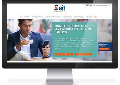 Diseño web empresa seguridad SIT Security