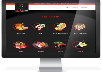Diseño web restaurante Sushi House