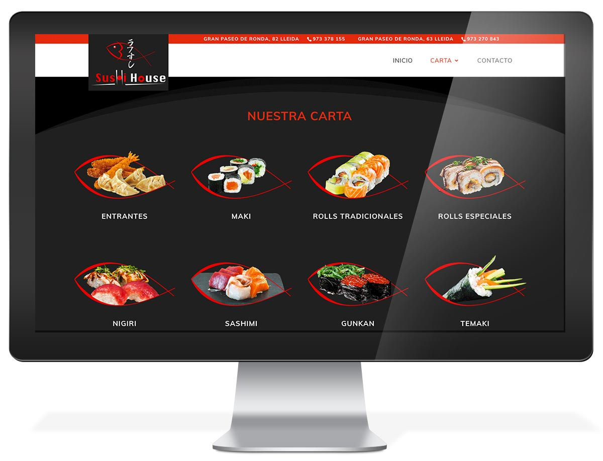 Disseny web restaurant Sushi House