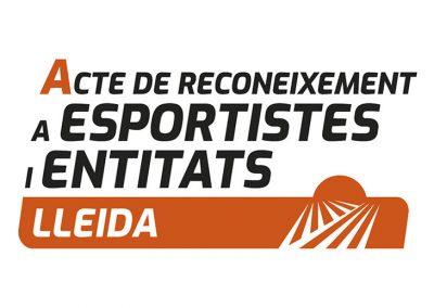 Imatge de l'Acte de Reconeixement a Esportistes i Entitats de Lleida