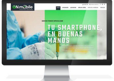 Disseny web botiga servei tècnic On Mobile