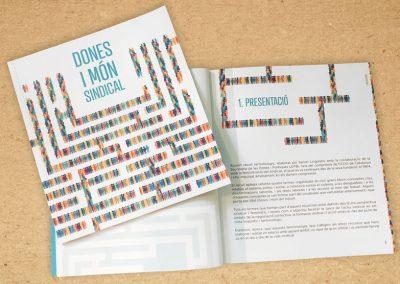 """Diseño libro """"Dones i món sindical"""""""