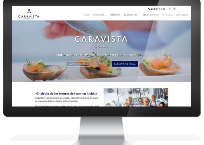 Disseny web restaurant Lleida Caravista