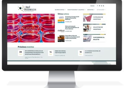 Disseny web Red Nacional de Biobancos
