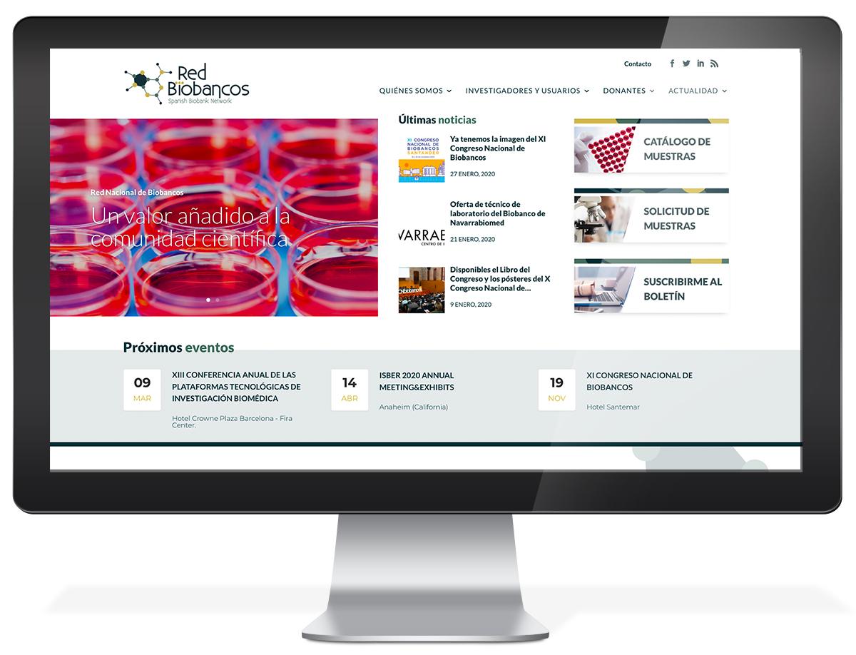 Diseño web Red Nacional de Biobancos