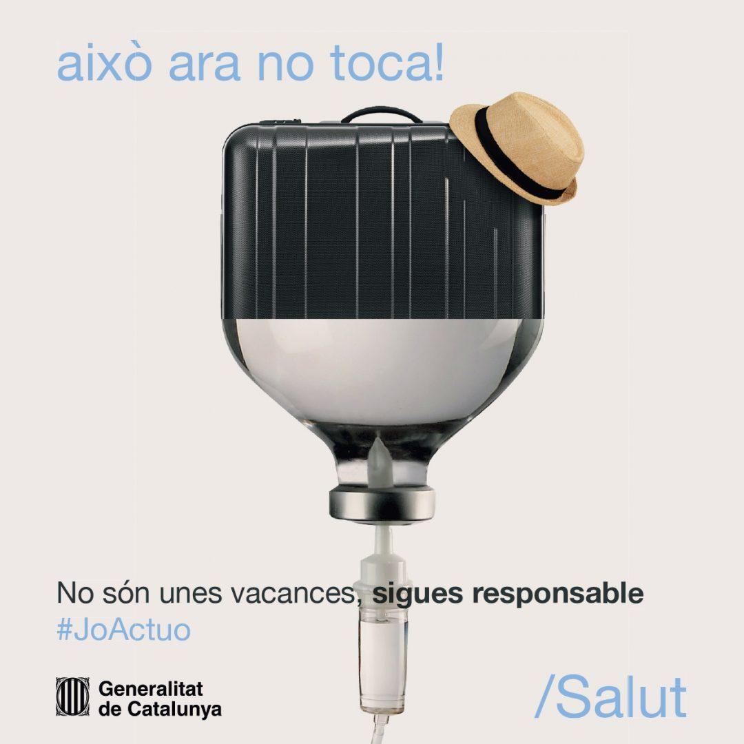 Campanya comunicació Covid-19 queda't a casa #JoActuo