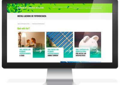 Disseny web Agència de l'Energia de Lleida